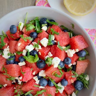 watermelon blueberry salad